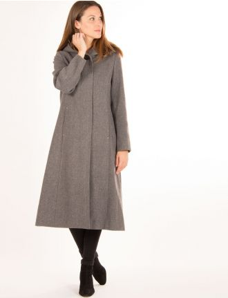 Long manteau en tweed par Saki