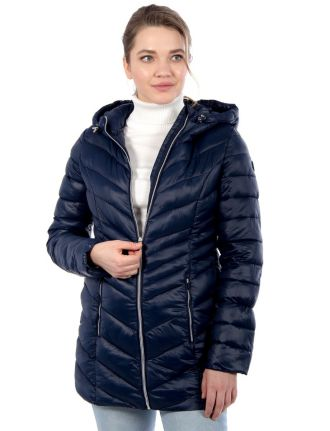 Long manteau compressible ultra-léger par point zero