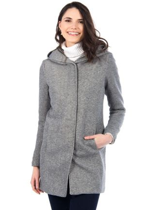 Long manteau à capuche par Only